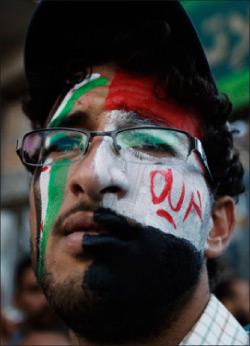 يمني يطالب بمحاكمة صالح (خالد عبدالله ــ رويترز)