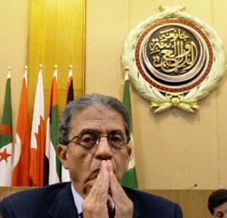 موسى خلال اجتماع وزراء الخارجيّة العرب في القاهرة أول من أمس (عمرو نبيل ـــ أ ب)