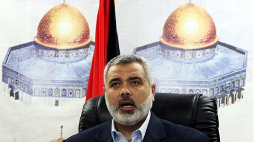 هنية في قطاع غزة أمس (محمد ألوستاز ـ أ ف ب)