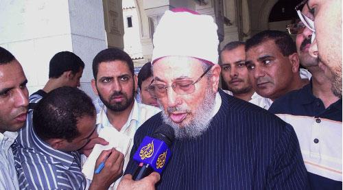 قيل إن الشيخ يوسف القرضاوي هدّد بالإستقالة في حال إستمرار الوضع على ما هو عليه