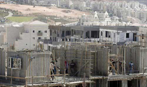 مستوطنة إسرائيلية قيد الانشاء في الضفة الغربية (أرشيف إي بي إي)