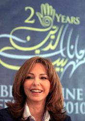 رئيسة لجنة المهرجان نورا جنبلاط خلال المؤتمر الصحافي أمس (هيثم الموسوي)