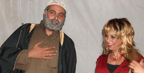 منال عوض وعماد فراجين في مشهد من الحلقة