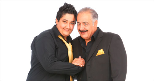 أيمن زيدان وابنه نوّار في «لقاء الأجيال»