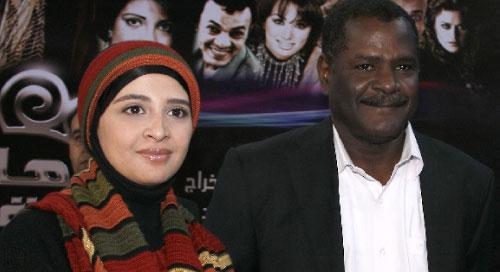 المخرج سعيد حامد مع حنان ترك خلال إطلاق تصوير المسلسل