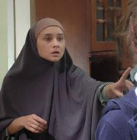 نيللي كريم في مشهد من «واحد صفر»