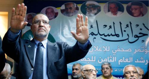 القيادي في جماعة الإخوان المسلمين في مصر عصام العريان خلال مؤتمر للإخوان في القاهرة الشهر الفائت (أرشيف ــ أ ب)