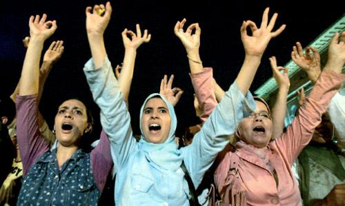 مغربيات يتظاهرن ضدّ البطالة في الرباط (أرشيف ـــ رويترز)