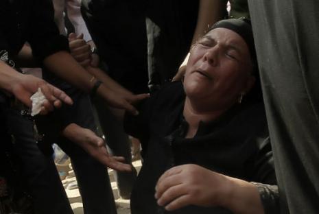 من تشييع قتلى أحداث ماسبيرو عام 2011 (أرشيف - أ ف ب)