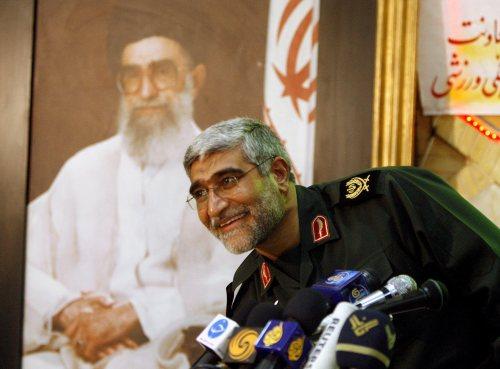 نائب قائد الحرس الثوري الإيراني عبد العلي نجفي في طهران أمس (عابدين طاهر كيناري ــ إي بي إي)