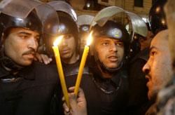 ناشط مصري في اعتصام يطالب بحرية الرأي في القاهرة أوّل الشهر الجاري (عمر نبيل ـ أ ب)