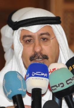 وزير الخارجية الكويتي معلناً عن استدعاء سفير بلاده للتشاور (غوستافو فيراري - أ ب)