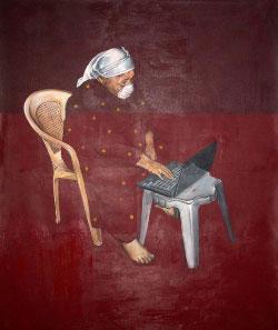 لوحة لنزار عثمان ( 160 × 130 سنتم ــ 2012)