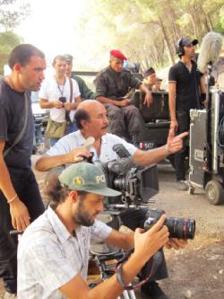 المخرج الجزائري خلال التصوير