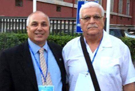سمحي مع رئيس اتحاد كرة اليد المصري خالد حمودة