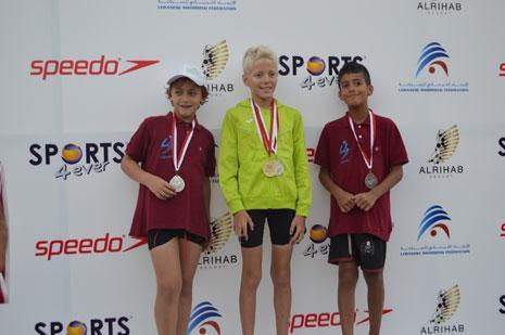 حقق سباح الجزيرة ليث عويضه رقماً قياسياً في سباق 50 متراً صدراً