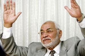 المرشد العام للإخوان المسلمين محمد مهدي عاكف (ارشيف)