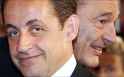 شيراك و ساركوزي أثناء أحد اللقاءات (أرشيف-أ ف ب)
