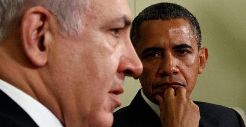 أوباما ونتنياهو في البيت الأبيض أمس (كيفن لامارك - رويترز)