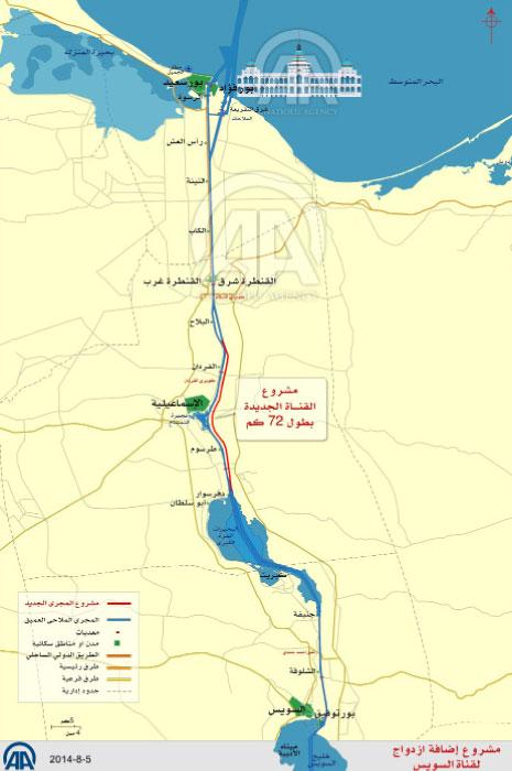 مشروع «قناة السويس الجديدة» في نقاط (الأناضول)