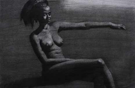 من دون عنوان (فحم على ورق - 54 × 76 ــ 2016)