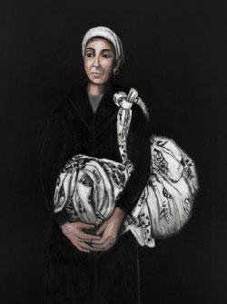 «النساء والحرب 4» (أكريليك على قماش ـــ 146 × 114 سنتم ـــ 2016 ــ بإذن من «غاليري كلود ليمان»)