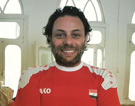 سيف الدين سبيعي بثياب المنتخب السوري