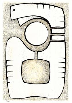 «الأرض الأم» (حبر على ورق ــ 70 × 100 سنتم  ــ 1996)