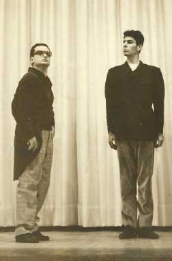 جلال خوري وجو طراب في اقتباس لبناني لمسرحية بوخنر «فويزيك» في بيروت عام 1964