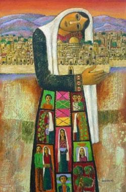 لوحة للتشكيلي الفلسطيني نبيل العناني (1943)