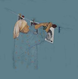 لوحة لنزار عثمان (أكريليك على كانفاس ـــ 155 × 125 سنتم ـــ 2012)