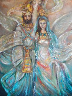 لوحة للفنان السوري مَعَد الراهب