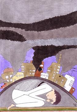 """""""مخيم اليرموك"""" للفنانة الفلسطينية سومر سلام"""