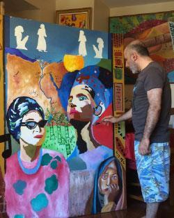 الفنان في مرسمه