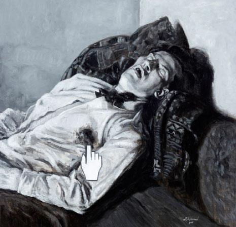 «جرحُ الشاعر وردة» (إلى ماياكوفسكي ــ 150 × 150 سنتم)