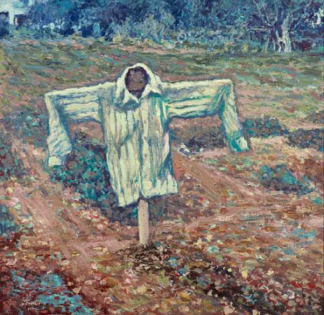 «الفزاغة الهلعة» (أكريليك على كانفاس ــ150 × 150 سنتم ــ 2016)