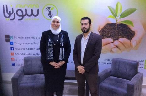 غيلان الغبرة ووزيرة الشؤون الاجتماعية والعمل ريما القادري