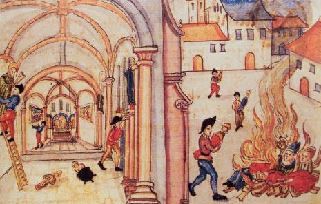 تدمير المصورات الدينية في مدينة زيورخ عام 1534.