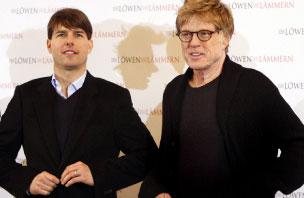 روبرت ردفورد وتوم كروز في حفل إطلاق الفيلم (ماركس براندت ـ أ ف ب)
