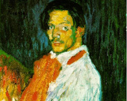 «يو بيكاسو» باريس 1901، زيت على كانفاس، مجموعة خاصة «زيرفوس» XXI