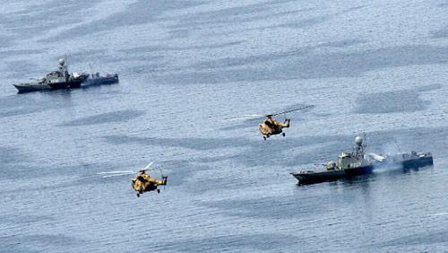 من تدريبات عسكرية للحرس الثوري الايراني في الخليج (أرشيف ــ أ ف ب)