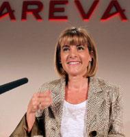رئيسة شركة «أريفا» آن لوفيرجون (تشارلز بلاتو ــ رويترز)