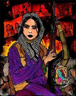 """فدائية غزة"""" للفنانة الارجنتينية اليزابيث درابكن"""""""