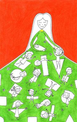 العمل للفنانة الفلسطينية سومر سلام