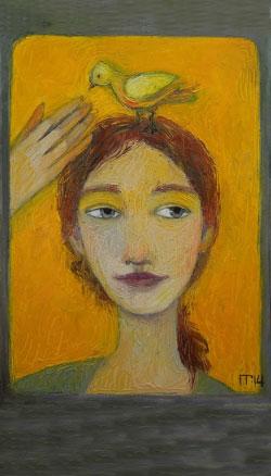 «أصفر» لغاليا بوبوفا (زيت على كانفاس ــ 40×30 سنتم ــ 2014)