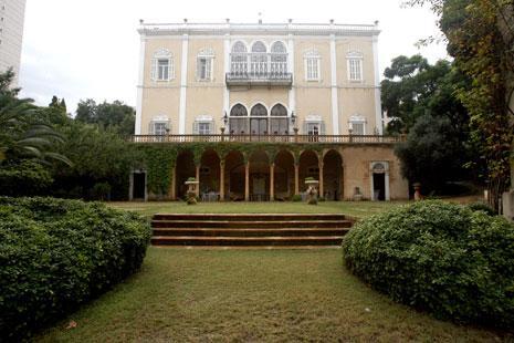 لغة قصر سرسق نيو عثمانية واضحة خصوصاً في العلاقة مع الحديقة (مروان طحطح)