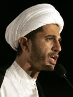 أمين عام «الوفاق»  الشيخ علي سلمان (كريم ساهب ــ أ ف ب)