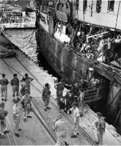 أثناء وصول المهاجرين اليهود إلى فلسطين المحتلة