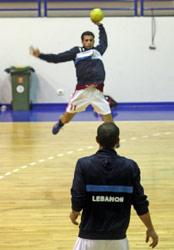 اللبناني بدرا خلال تمارين المنتخب (بلال جاويش)