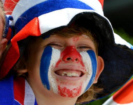 فرحة كوستاريكا بالتأهل ( أ ف ب)